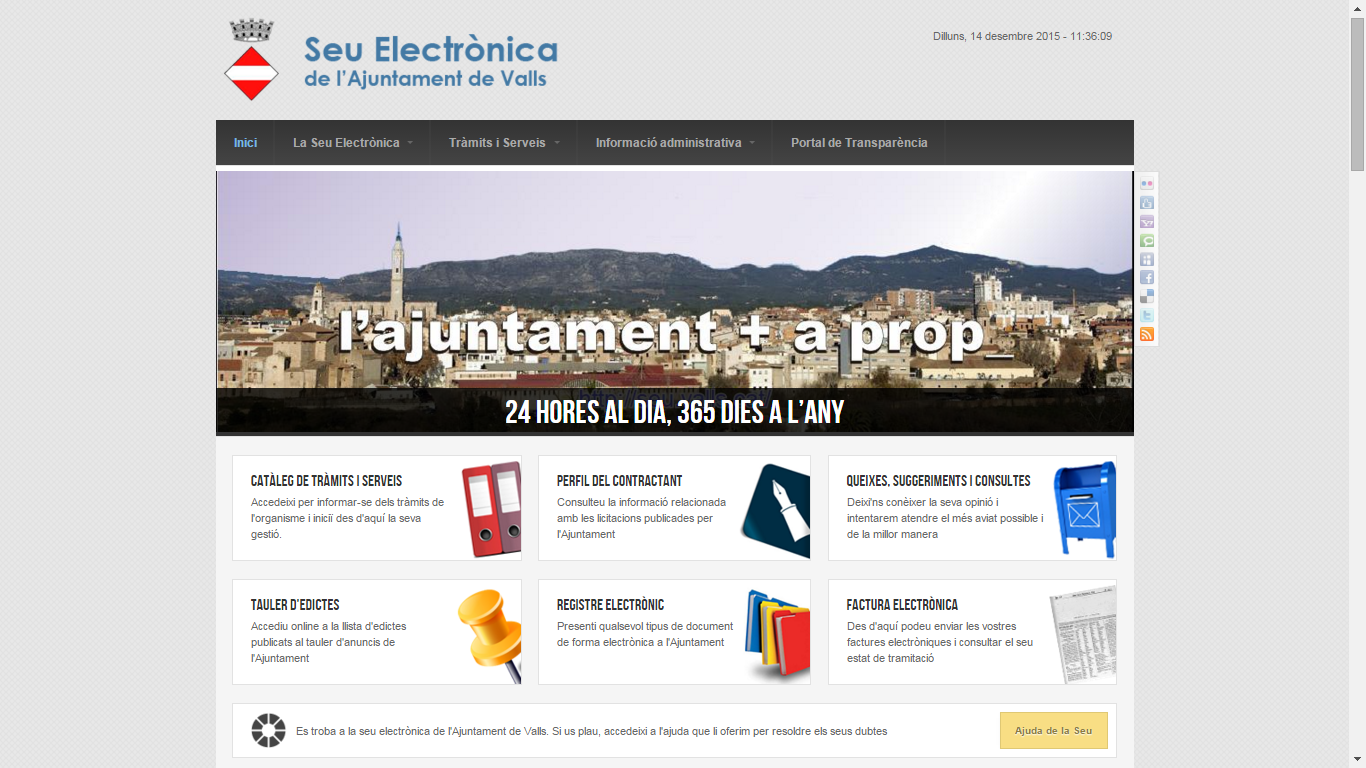 Sede Electrónica del Ayuntamiento de Valls